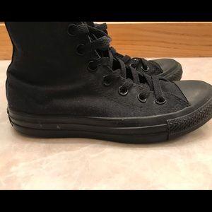 Converse, Women's Black High top, Size 6